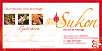 Massage-Gutschein Sukon Thaimassage